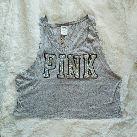 PINK Victoria's Secret Tops - VS Pink Bling tank Crop top size large